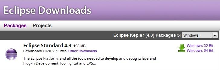 install eclipse kepler windows 10